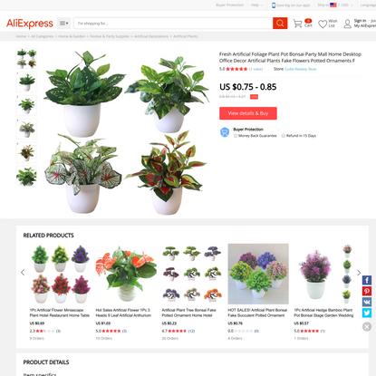 Fresh Artificial Foliage Plant Pot Bonsai Party Mall Home Desktop Office Decor Artificial Plants Fake Flowers Potted Ornamen...