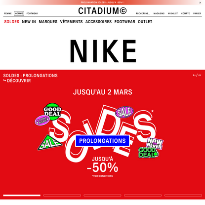 Tendance Streetwear & Lifestyle HOMME | Citadium
