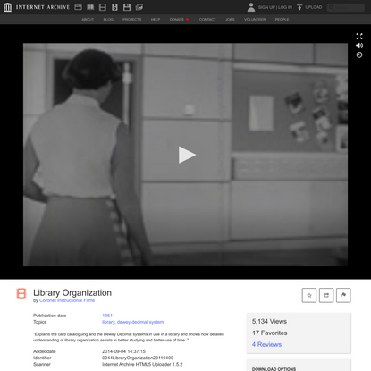 Library Organization : Coronet Instructional Films : Free Download, Borrow, and Streaming : Internet Archive