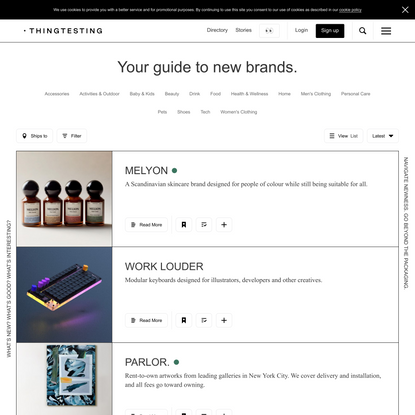 Thingtesting - Your guide to new brands