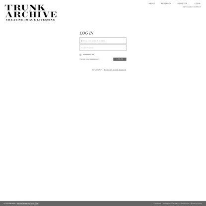 Trunk Archive - Login/Registration