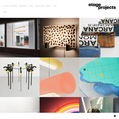 Opening Page Index — ETAGE PROJECTS