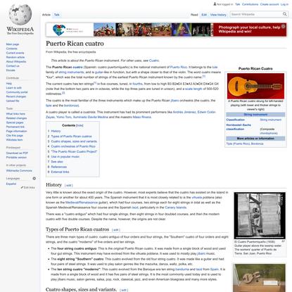 Puerto Rican cuatro - Wikipedia