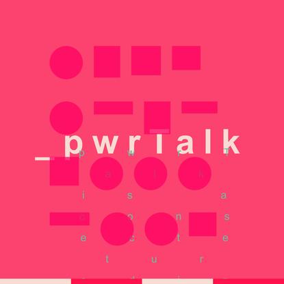 pwrtalk (prototype)