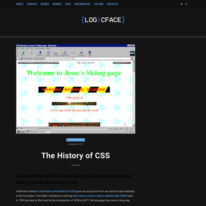 The History of CSS - LOGiCFACE
