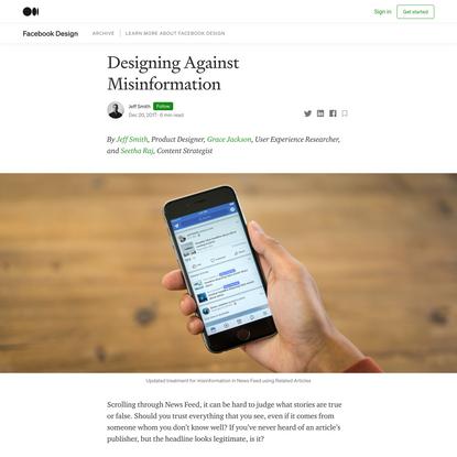 Designing Against Misinformation