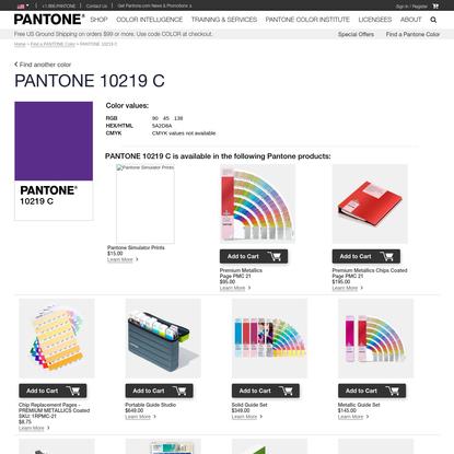 PANTONE 10219 C - find a PANTONE Color