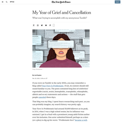 My Year of Grief and Cancellation