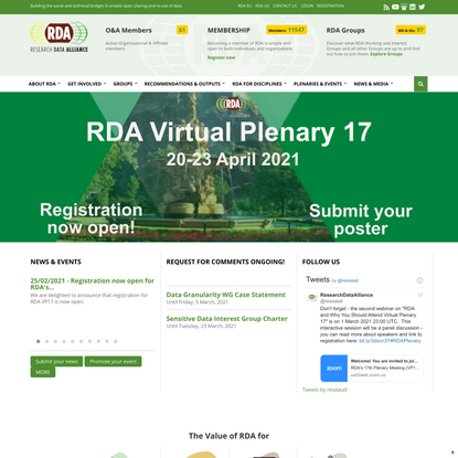 RDA | Research Data Sharing without barriers