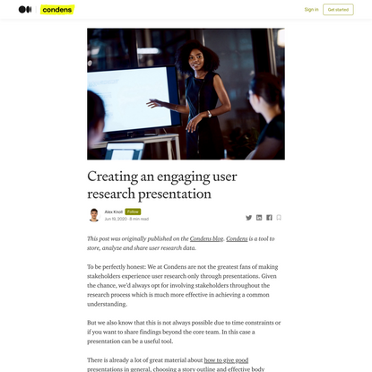 Creating an engaging user research presentation