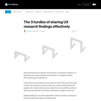 The 3 hurdles of sharing UX research findings effectively