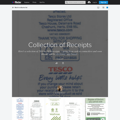 Collection of Receipts