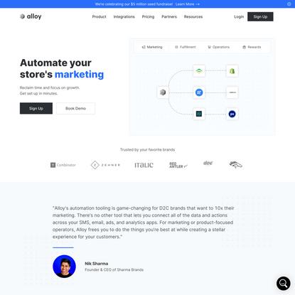 Ecommerce Automation Platform | Alloy Automation