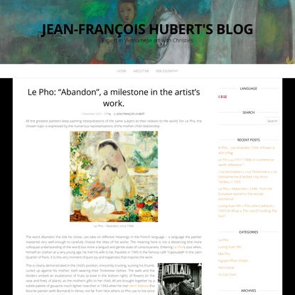 "Le Pho: ""Abandon"", a milestone in the artist's work."
