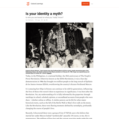 Is your identity a myth?