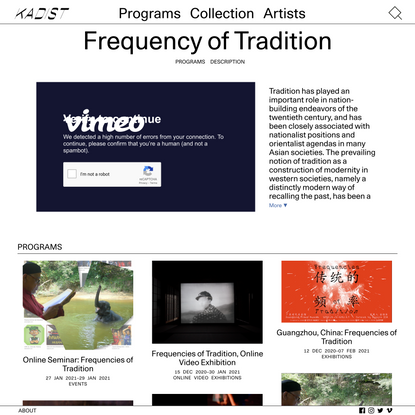 Frequency of Tradition – Kadist