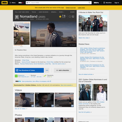 Nomadland (2020) - IMDb