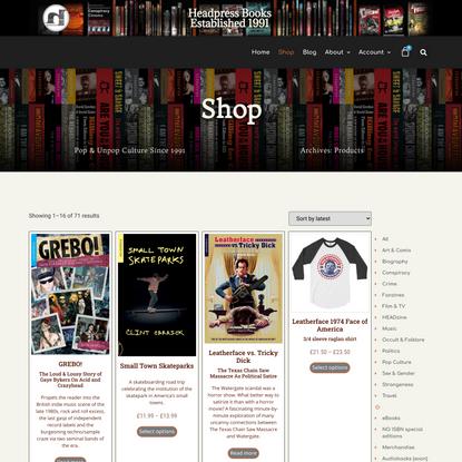 Shop | Headpress