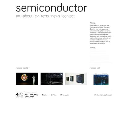 semiconductor | Artist duo Ruth Jarman and Joe Gerhardt