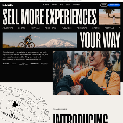 Easol - Sell travel and experiences online.