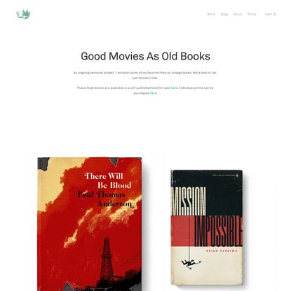 Good Movies as Old Books — the Design Office of Matt Stevens - Direction + Design + Illustration