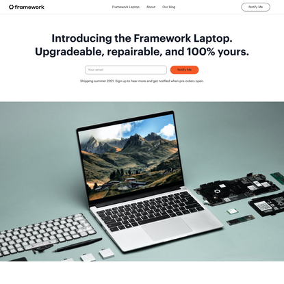 Introducing the Framework Laptop