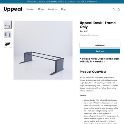 Uppeal Desk - Frame Only