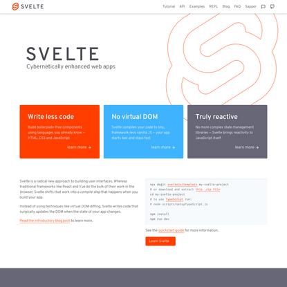 Svelte • Cybernetically enhanced web apps