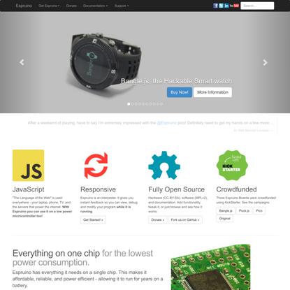 Espruino - JavaScript for Microcontrollers