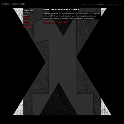 Josh Kline, Ajay Kurian & others   EXPO 1: New York