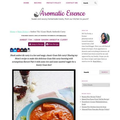 Ambot Tik | Goan Shark Ambotik Curry
