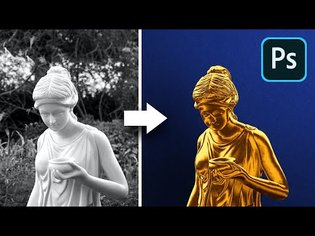 """The """"Midas Touch"""" Filter in Photoshop! (Gold Effect)"""