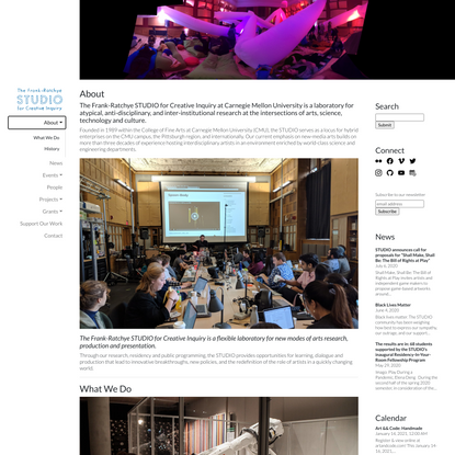 About – The Frank-Ratchye STUDIO For Creative Inquiry