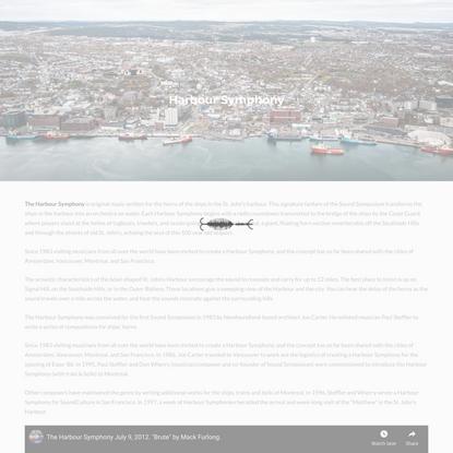 Harbour Symphony   Sound Symposium   A celebration of sound in St. Johns, Newfoundland