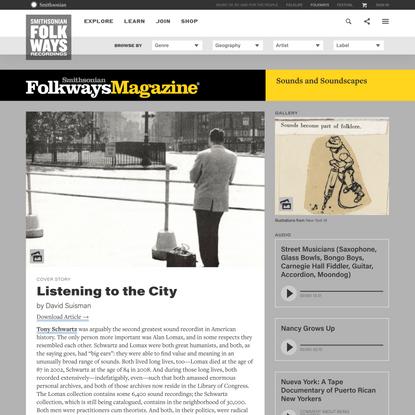Listening to the City   Smithsonian Folkways Magazine
