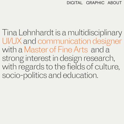 Tina Lehnhardt UX