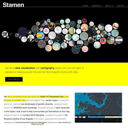 Data Visualization Design Agency & Cartography Firm | Stamen