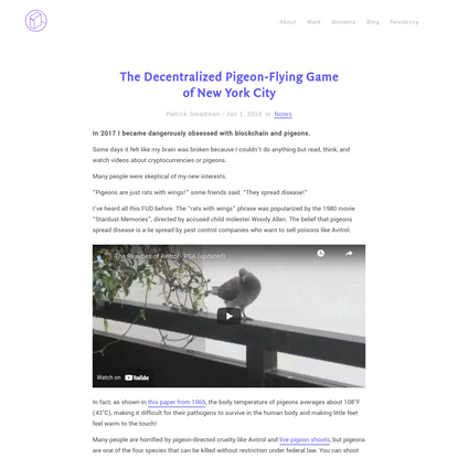 The Decentralized Pigeon-Flying Game of New York City