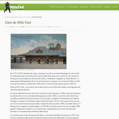 Gare du Mile End – Mémoire du Mile End