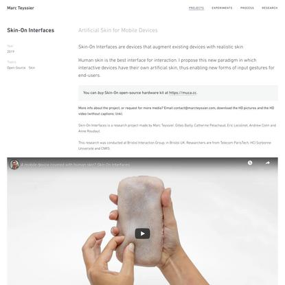 Marc Teyssier   Skin-On Interfaces