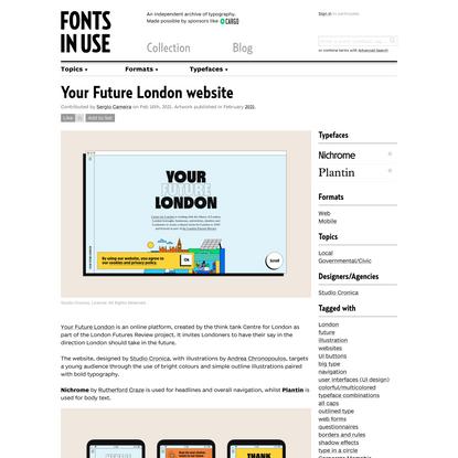 Your Future London website