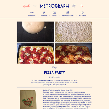 Pizza Party - Metrograph
