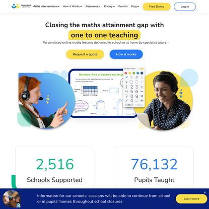 Maths Intervention Programmes - Maths Tuition In Schools - Third Space Learning