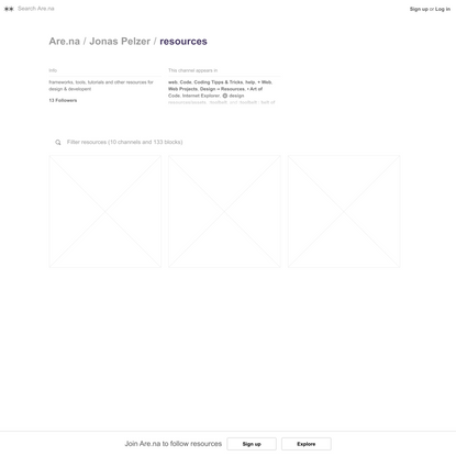 resources — Are.na