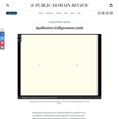 Apollinaire's Calligrammes (1918)