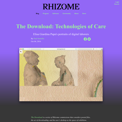 The Download: Technologies of Care