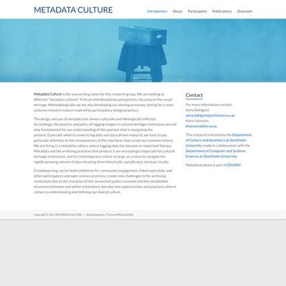 METADATA CULTURE