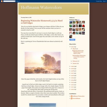 Hoffmann Watercolors