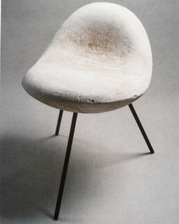 """#IsamuNoguchi, """"Model for William Burden Chair"""", c. #1947 (steel legs are replacements from 2007) - image via Kevin Noble"""