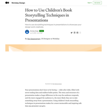 How to Use Children's Book Storytelling Techniques in Presentations